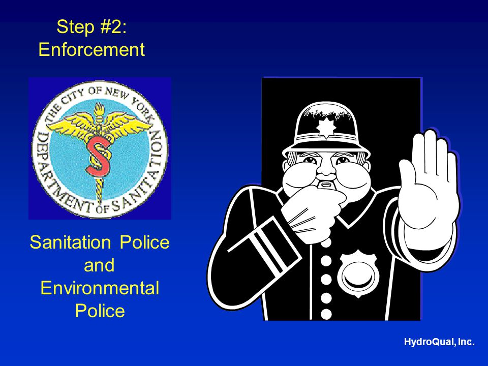 HydroQual, Inc. Sanitation Police and Environmental Police Step #2: Enforcement