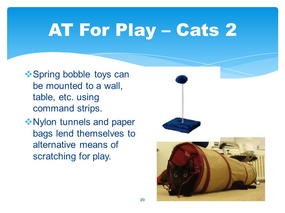 20  Spring bobble toys can be mounted to a wall, table, etc.