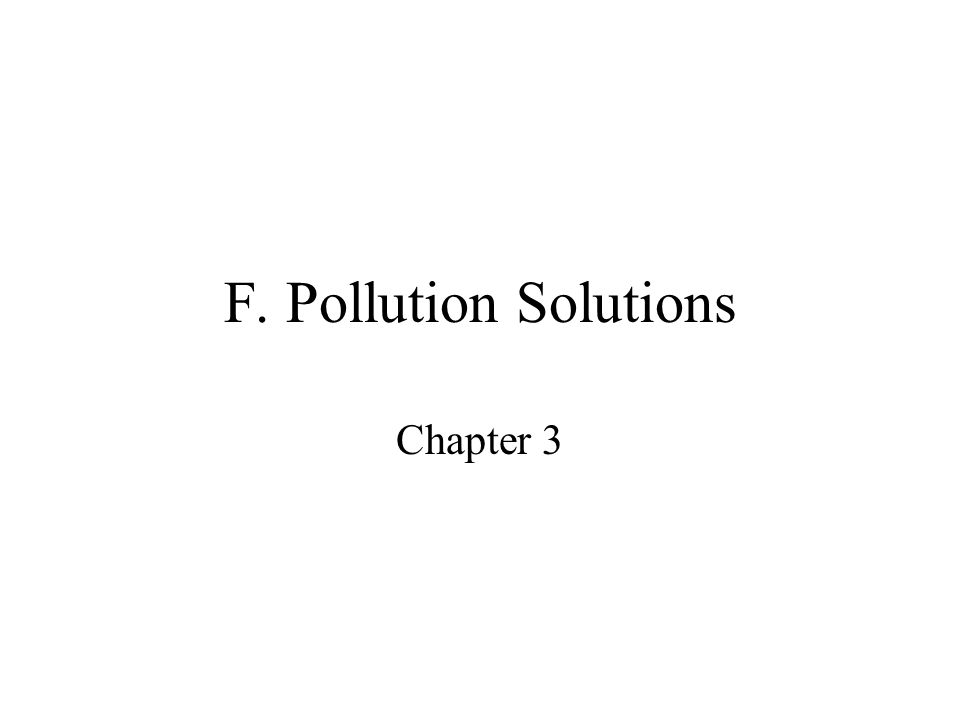 The Optimal Level of Pollution Optimal level of pollution minimizes the total social costs of pollution (the sum of total abatement costs and total damages).