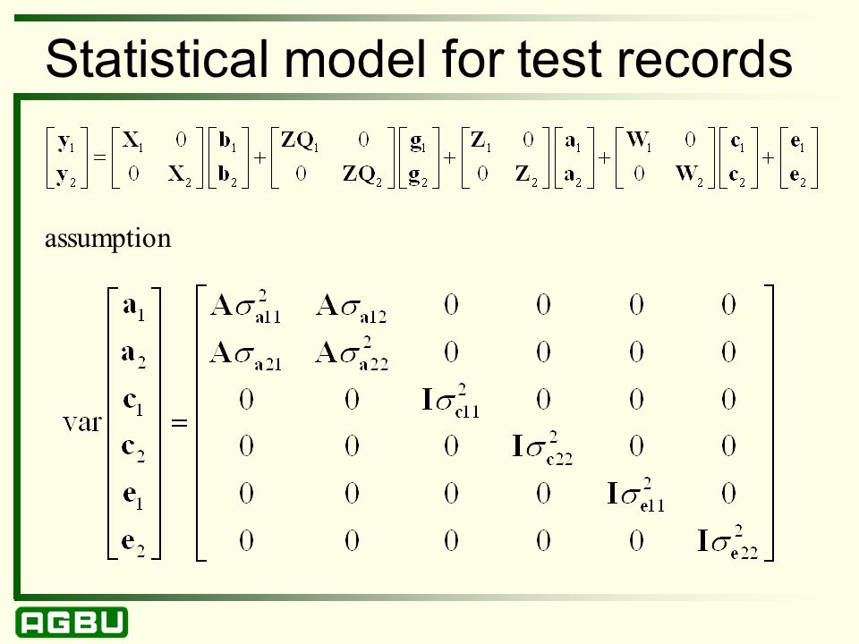 Statistical model for test records assumption