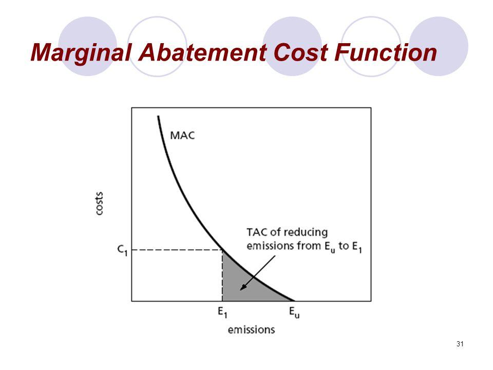 31 Marginal Abatement Cost Function
