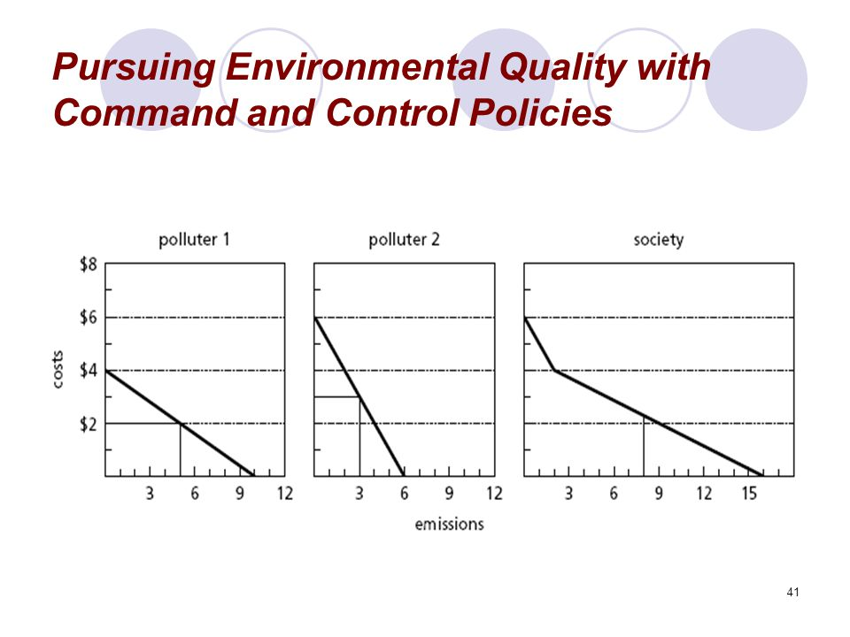 41 Pursuing Environmental Quality with Command and Control Policies