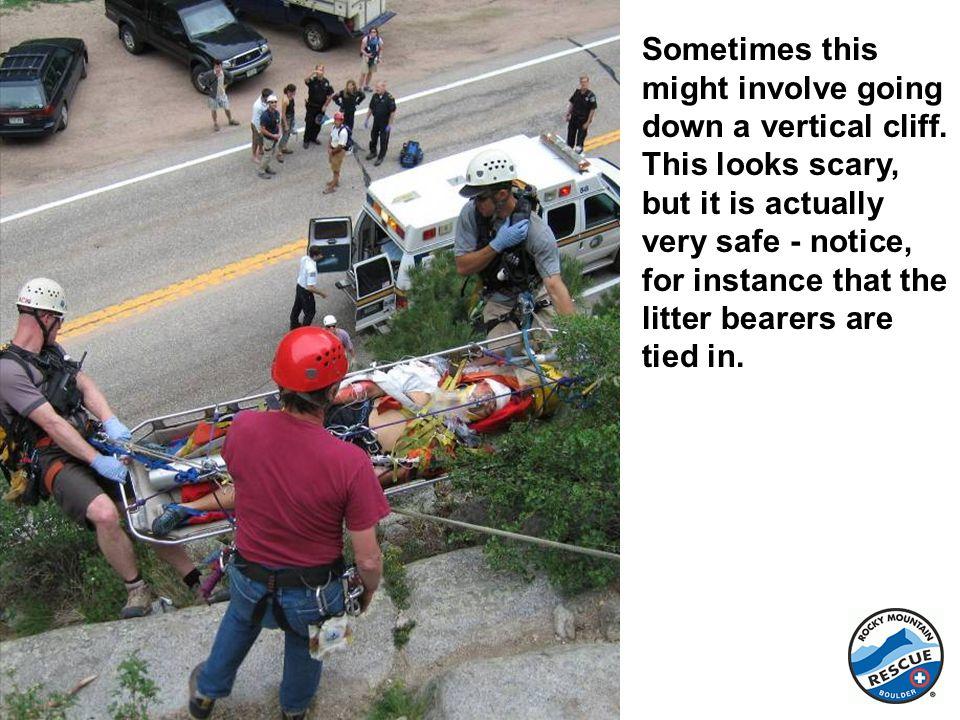 Walking down a steep hillside is called a scree evacuation.