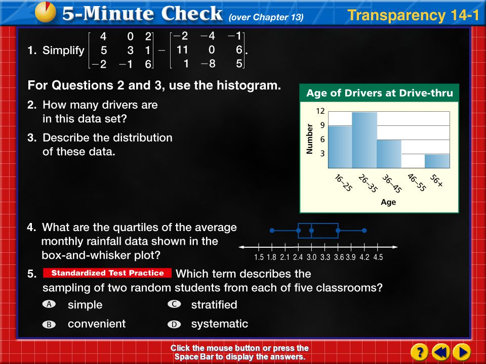 Algebra1.com Explore online information about the information introduced in this chapter.