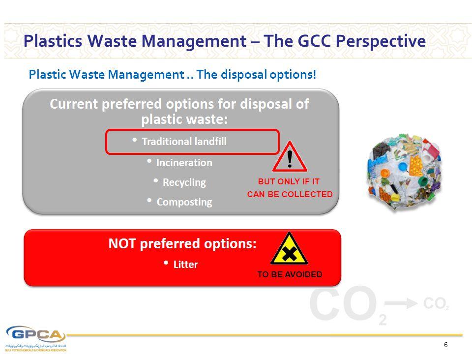 The Plastics disposal options..