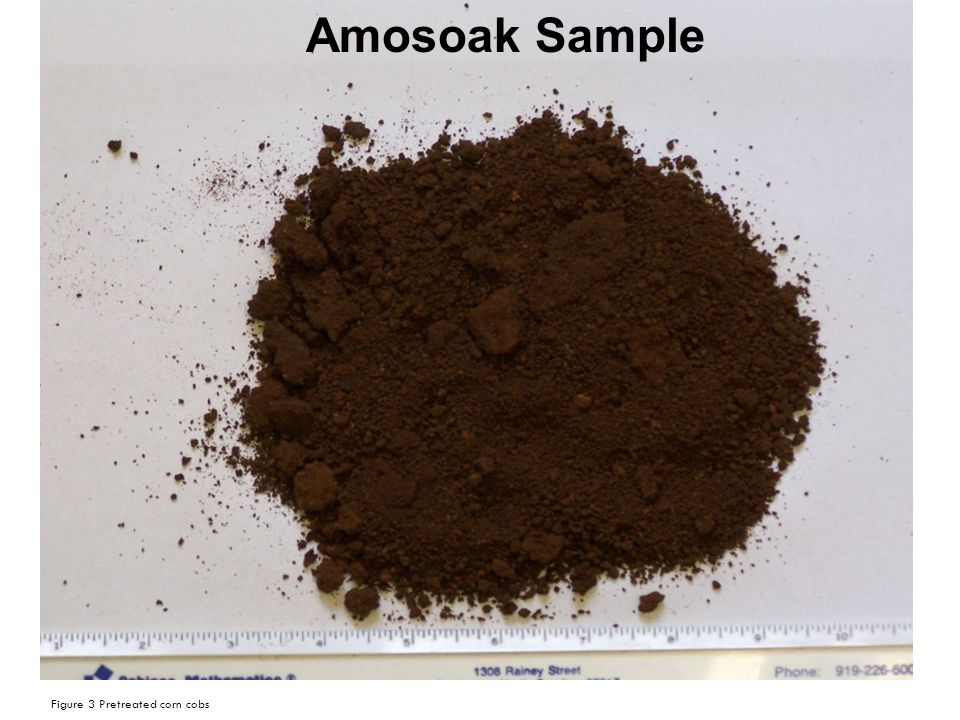 Figure 3 Pretreated corn cobs Amosoak Sample