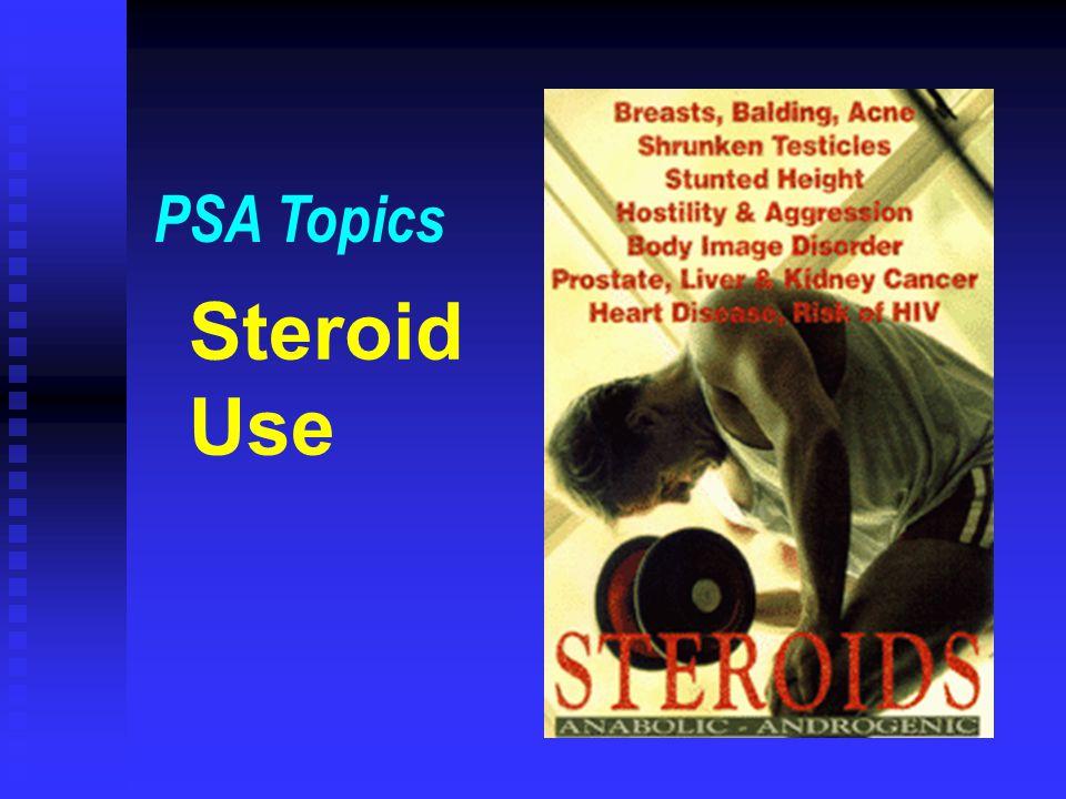 Steroid Use PSA Topics