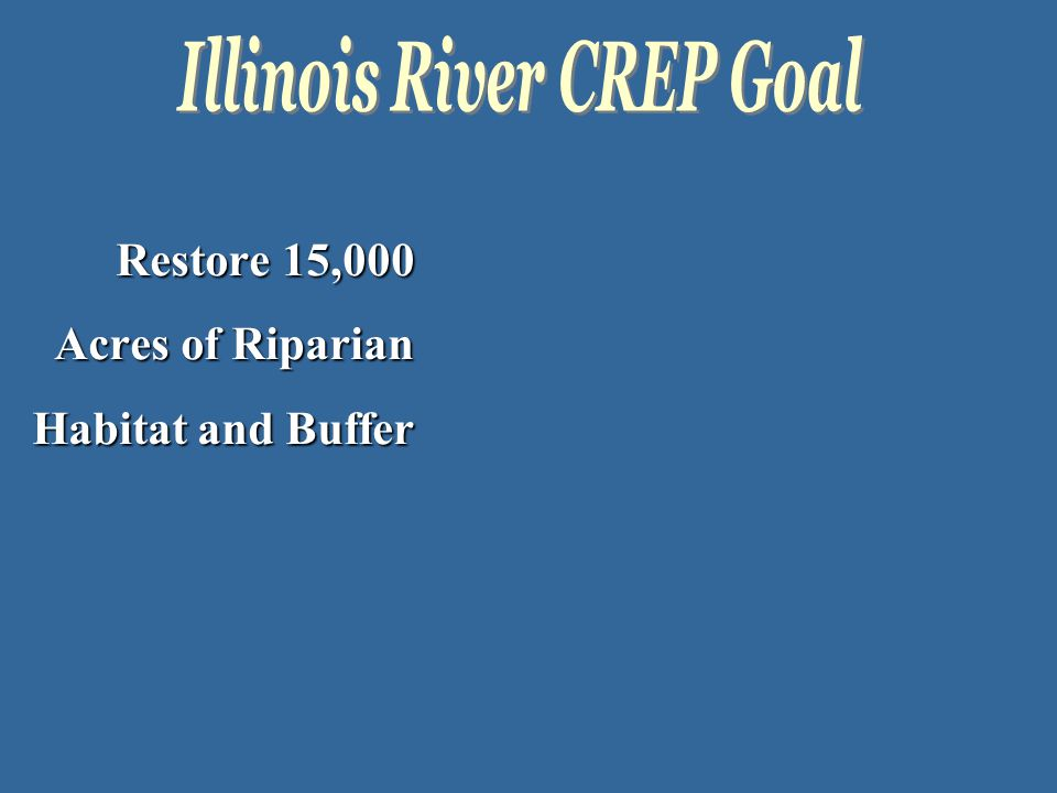 Restore 15,000 Acres of Riparian Habitat and Buffer
