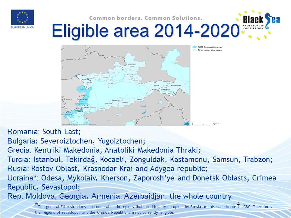 5 Buget 2014-2020 ENPI Buget : 39 mil.Euro IPA Buget : 10 mil.
