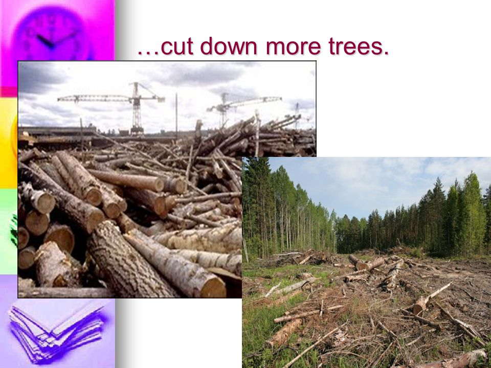 …cut down more trees.