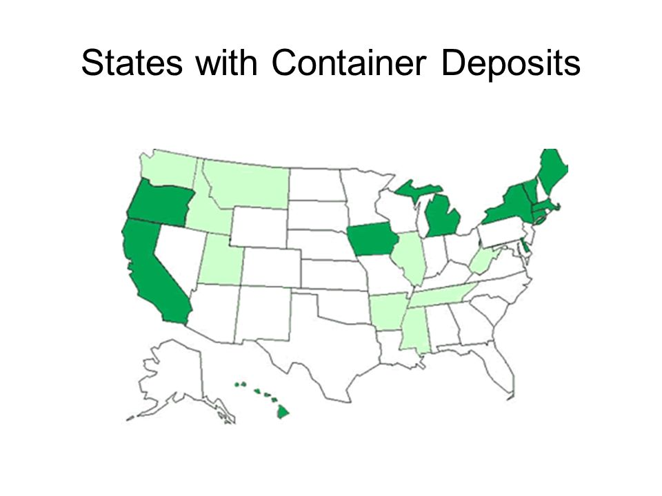 States with Container Deposits