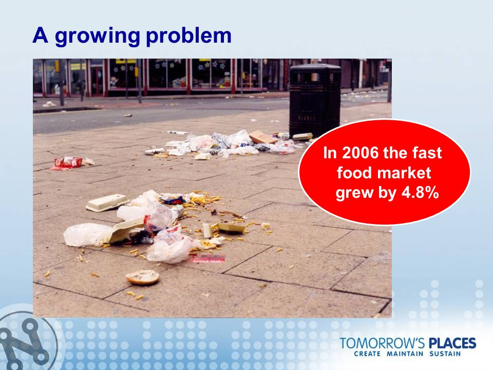 A growing problem In 2006 the fast food market grew by 4.8%