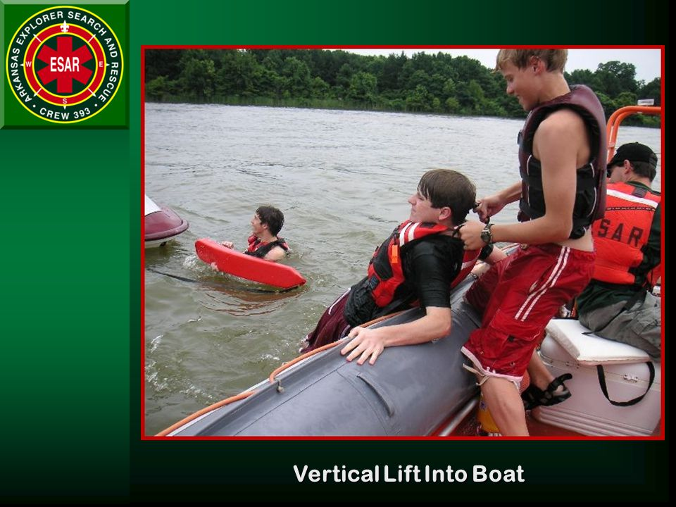 Vertical Lift Into Boat