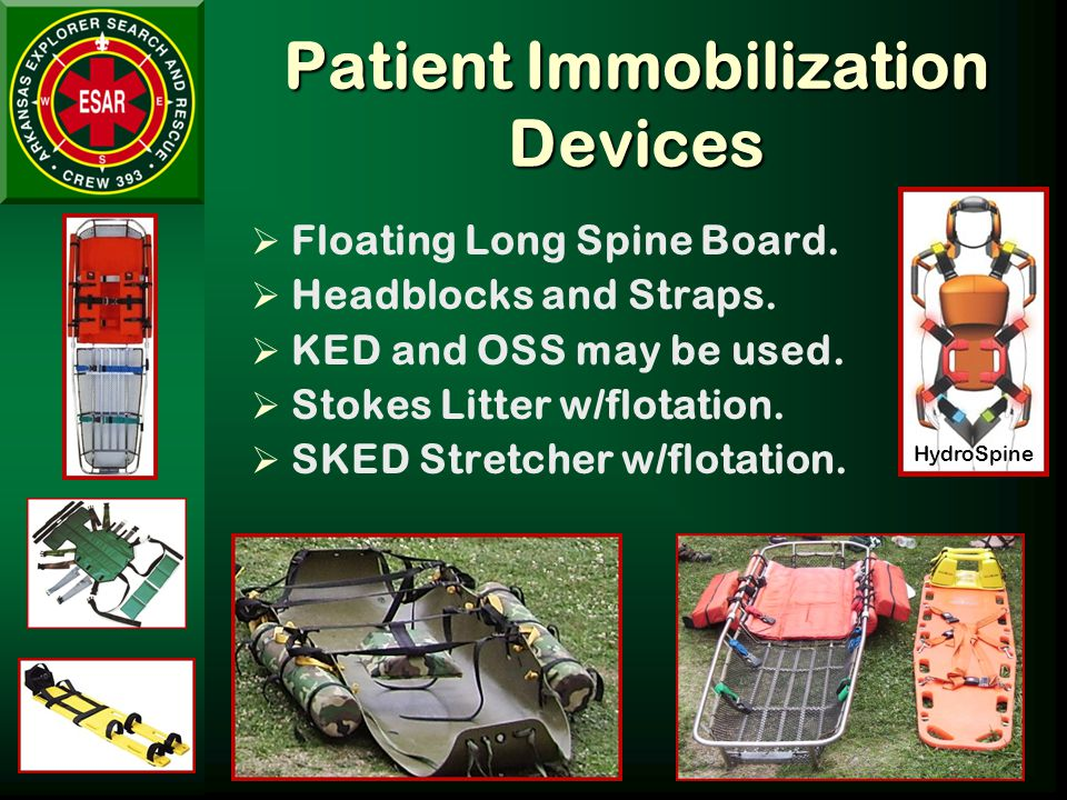 Patient Immobilization Devices  Floating Long Spine Board.