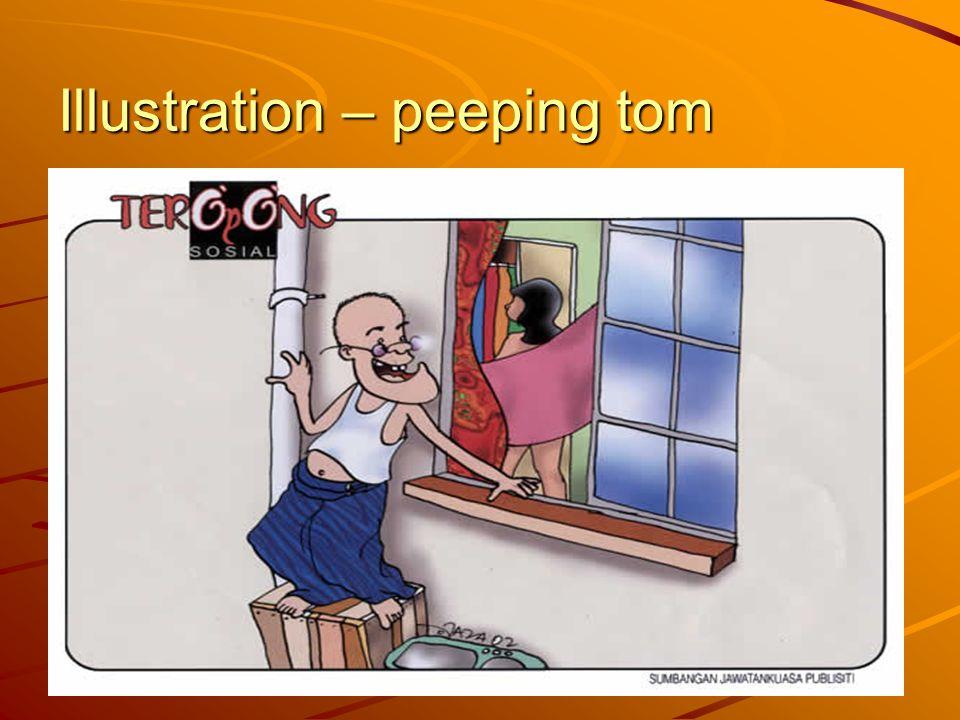 Illustration – peeping tom