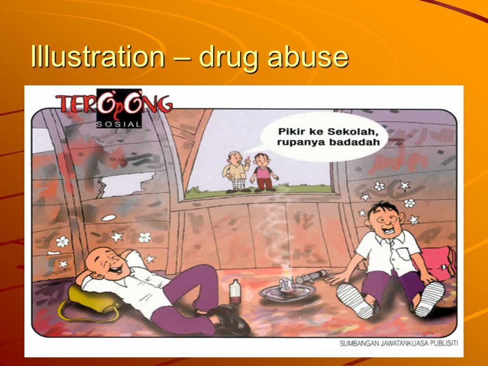Illustration – drug abuse