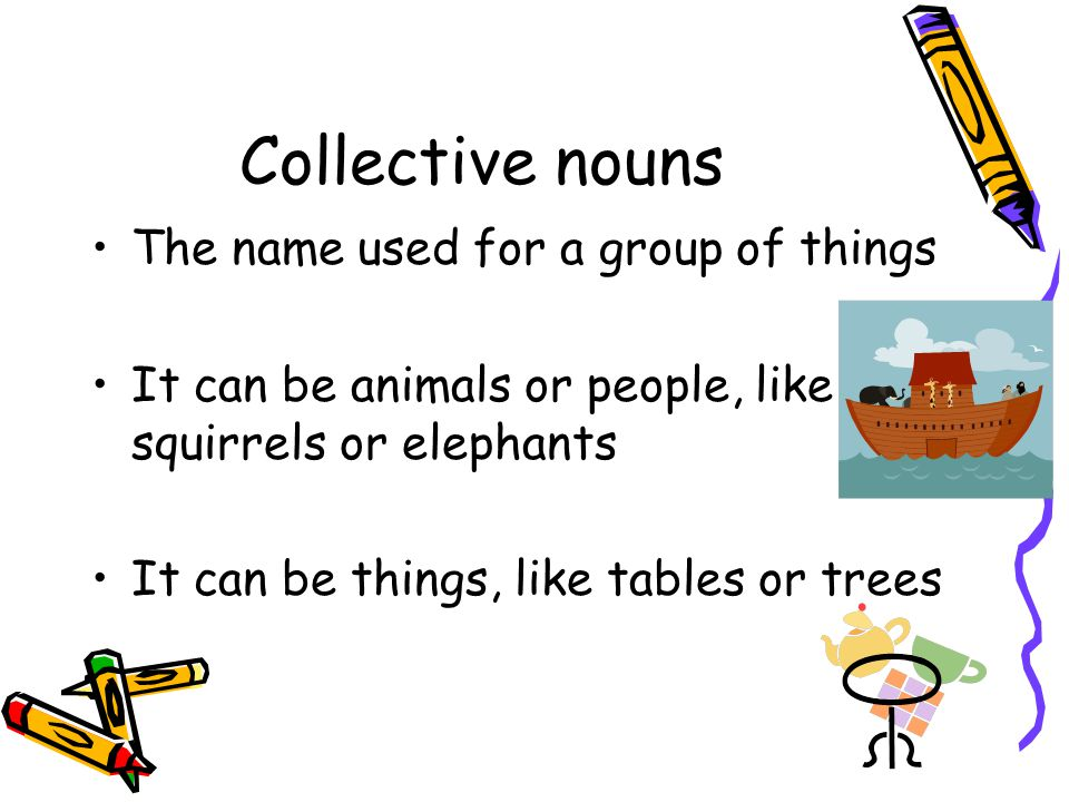 Some strange collective nouns A goat A kitten A jellyfish People in a church A crow A porpoise An ape A tribe of goats A kindle of kittens A smuck of jellyfish A congregation of worshippers A murder of crows A school of porpoises An intelligence of apes