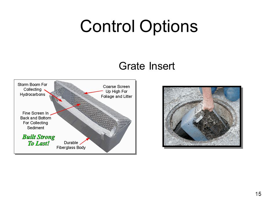 15 Control Options Grate Insert