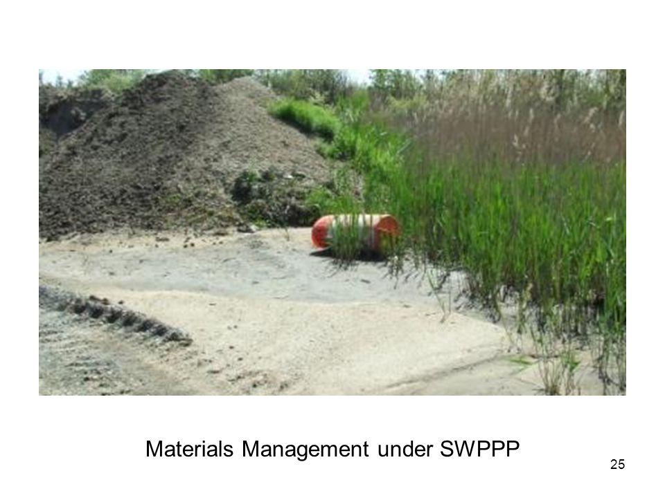 25 Materials Management under SWPPP