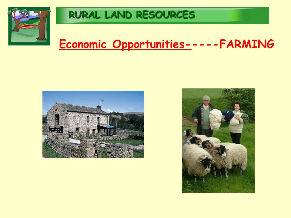 RURALLAND RESOURCES RURAL LAND RESOURCES Economic Opportunities-----FARMING