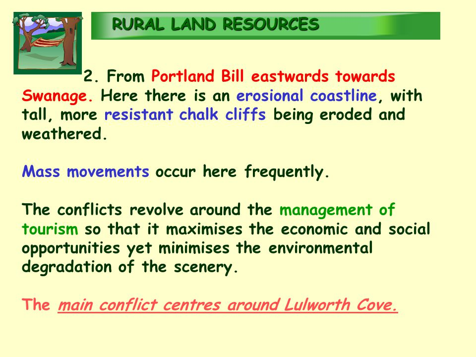 RURALLAND RESOURCES RURAL LAND RESOURCES 2. From Portland Bill eastwards towards Swanage.