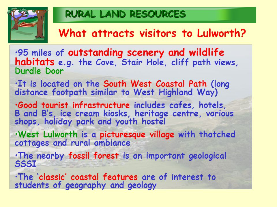 RURALLAND RESOURCES RURAL LAND RESOURCES 95 miles of outstanding scenery and wildlife habitats e.g.