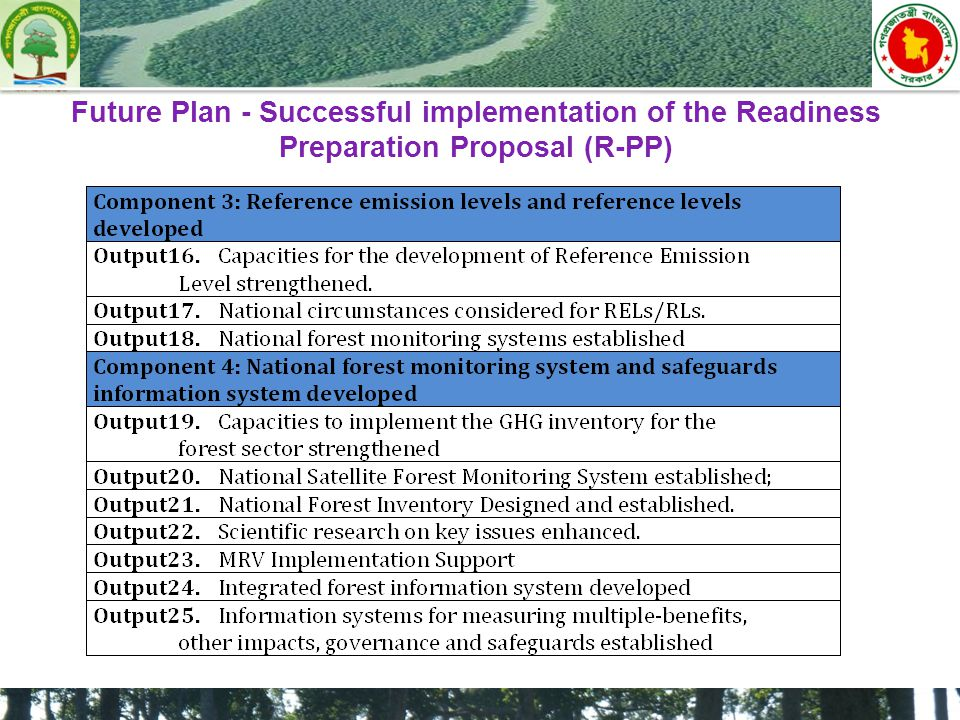 Future Plan - Successful implementation of the Readiness Preparation Proposal (R-PP)