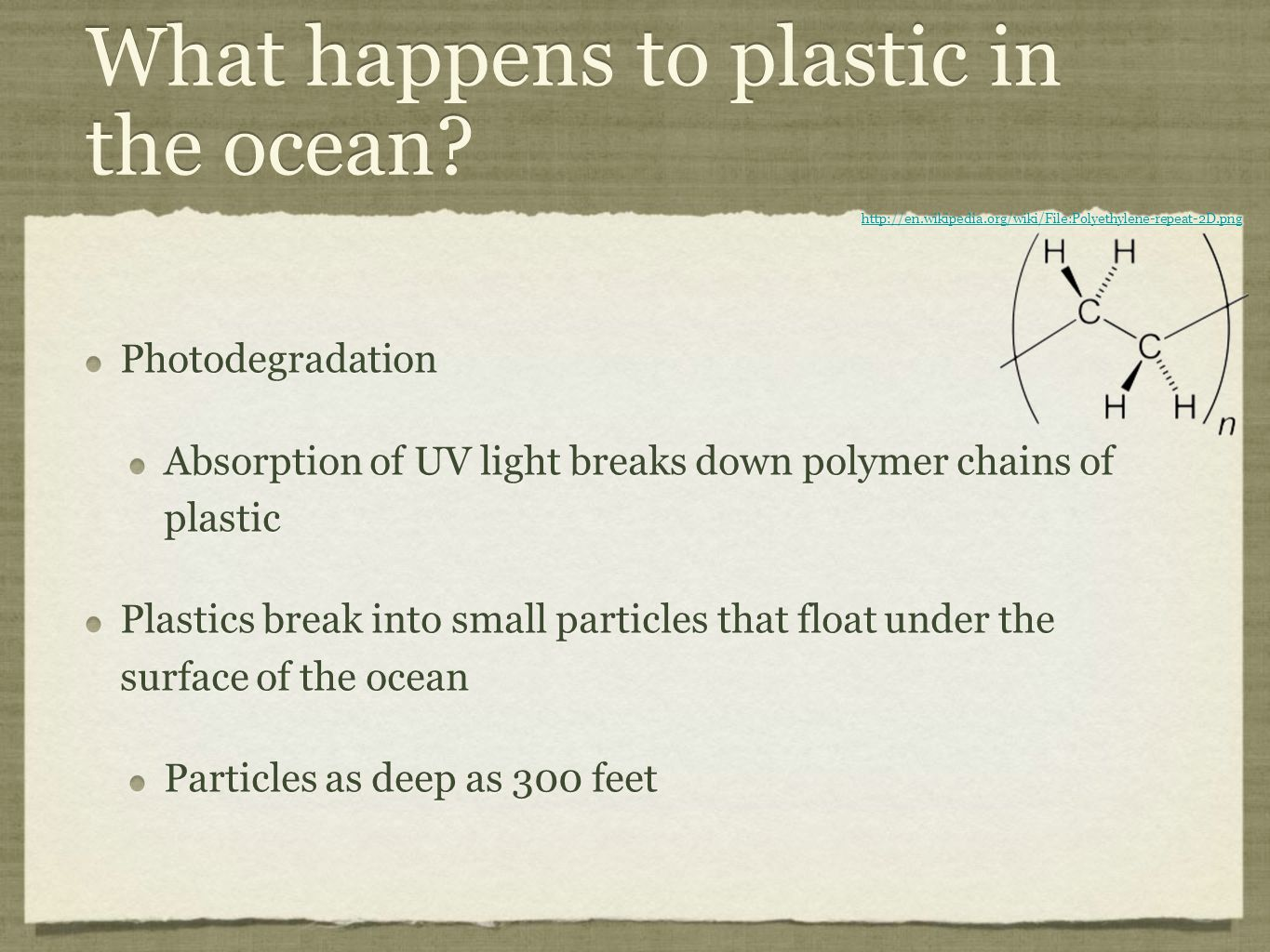 What happens to plastic in the ocean.