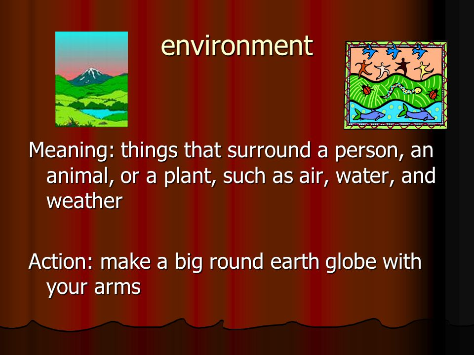 I Am Responsible Vocabulary Talking About Our Environment When I Get Up In The Morning