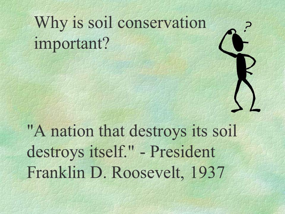 By W.Batke Teacher Notes Activity Soil Conservation
