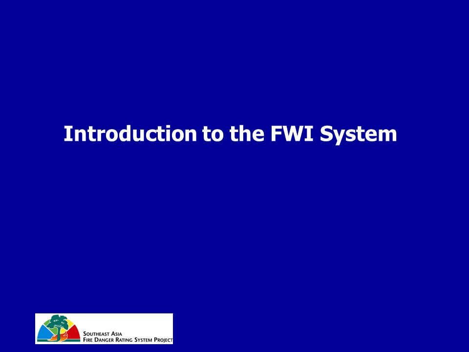 Introduction to the FWI System