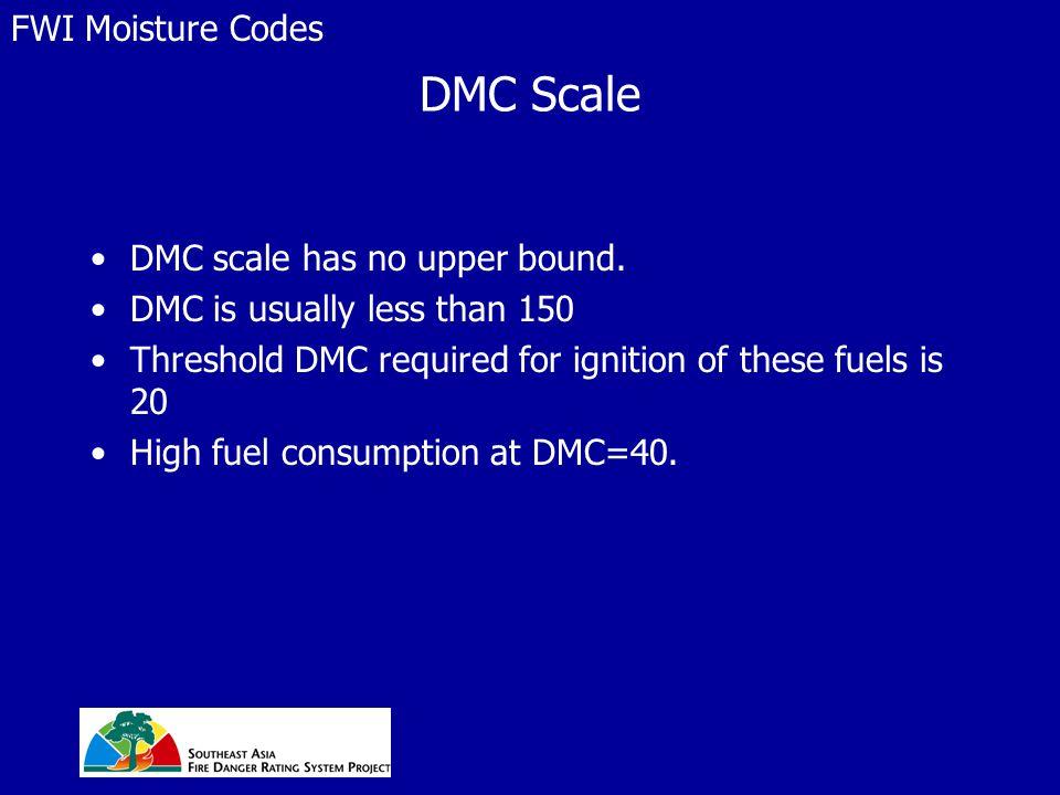 DMC Scale DMC scale has no upper bound.