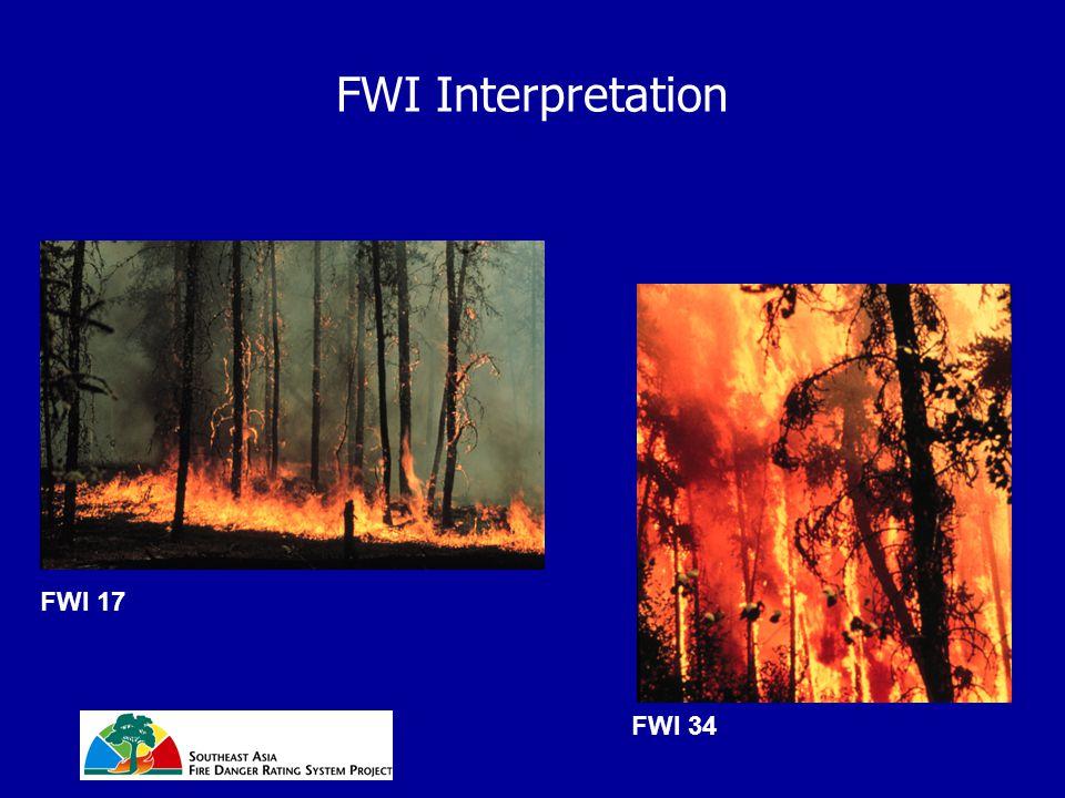 FWI Interpretation FWI 17 FWI 34
