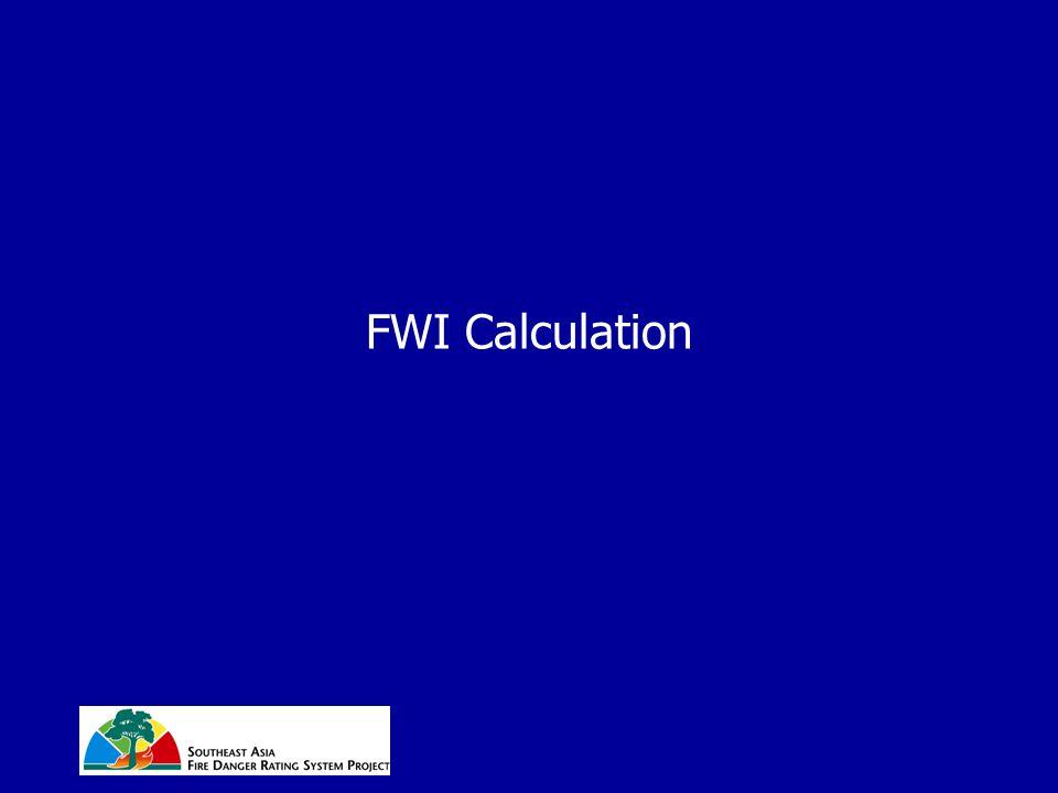 FWI Calculation