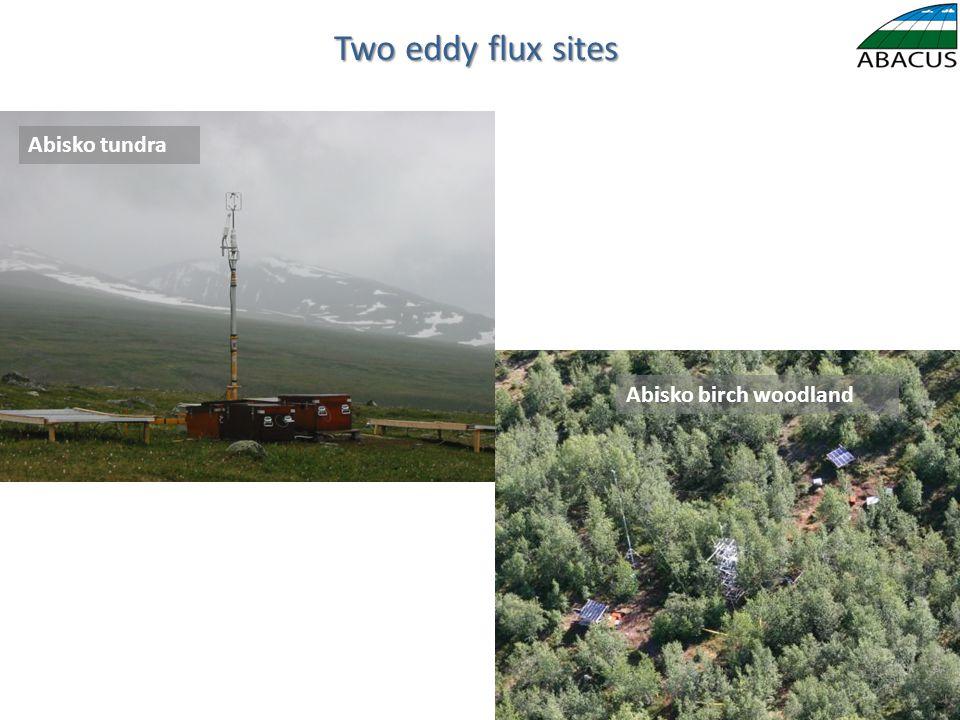 Two eddy flux sites Abisko birch woodland Abisko tundra