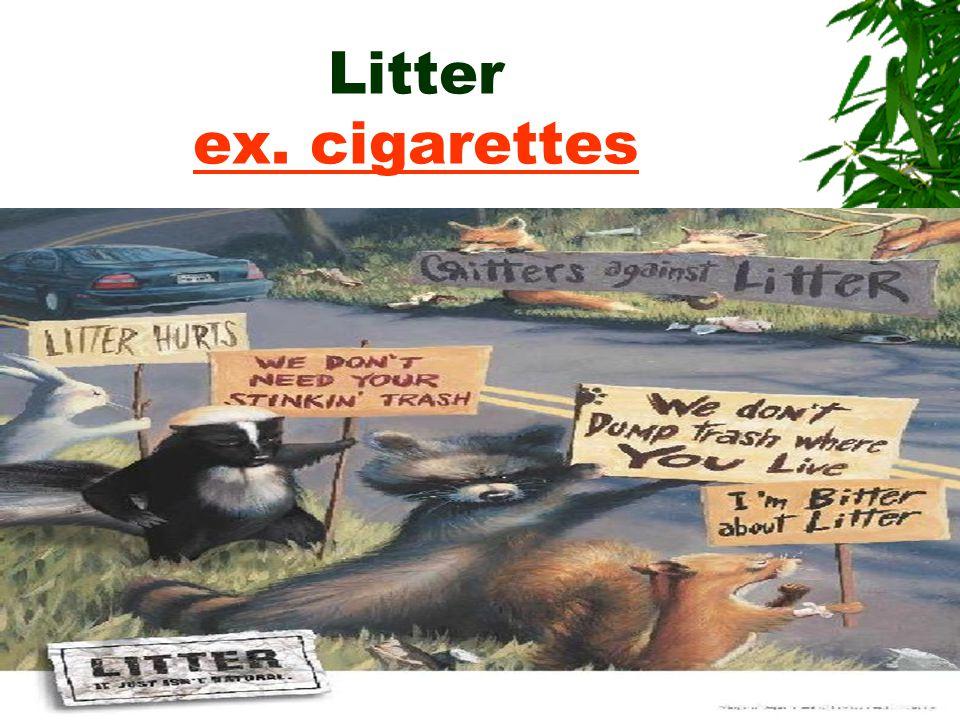 Litter ex. cigarettes ex. cigarettes