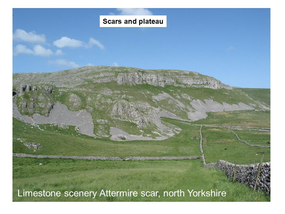 Limestone scenery Attermire scar, north Yorkshire Scars and plateau