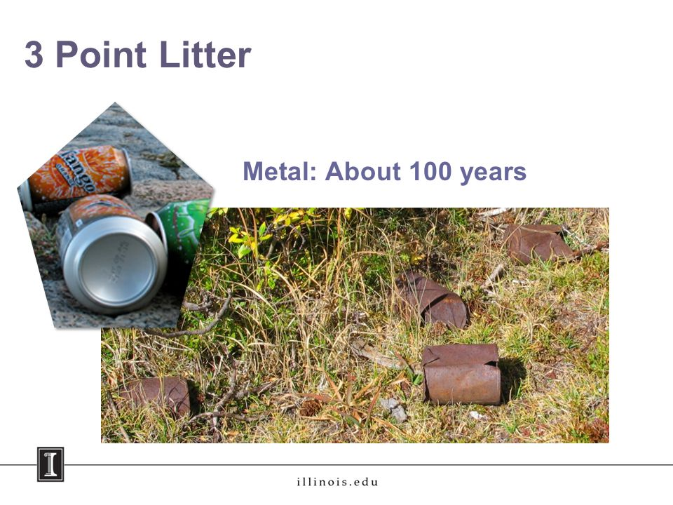 3 Point Litter Metal: About 100 years