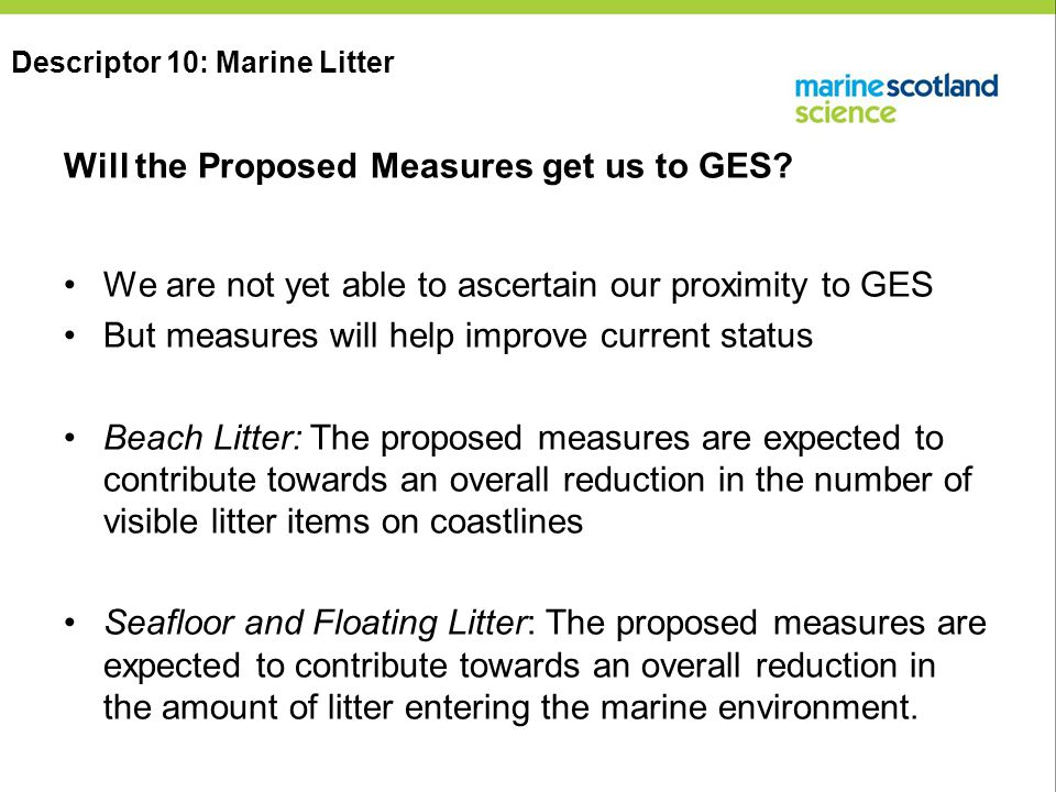 Will the Proposed Measures get us to GES.