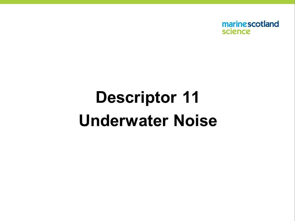 Descriptor 11 Underwater Noise