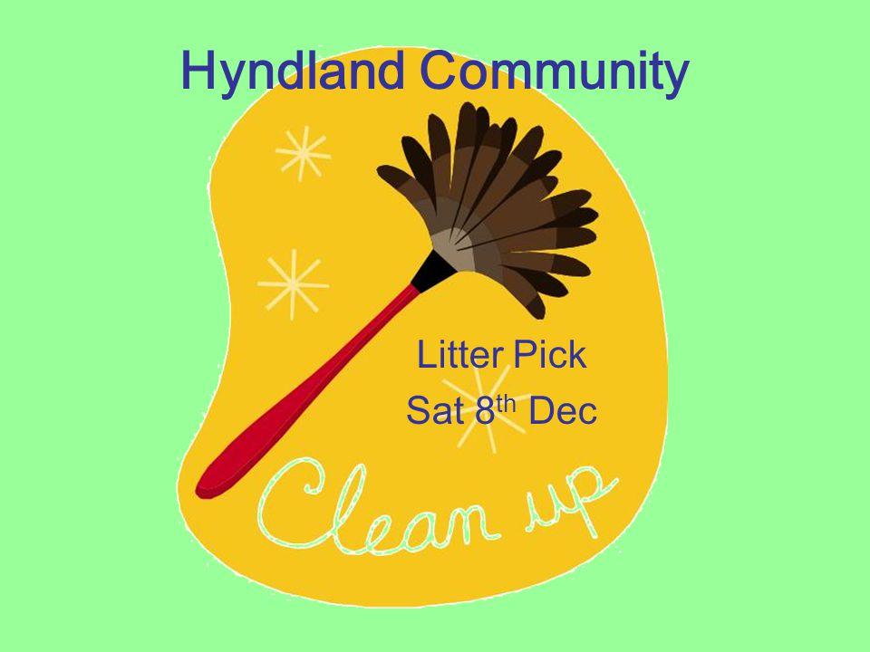 Hyndland Community Litter Pick Sat 8 th Dec