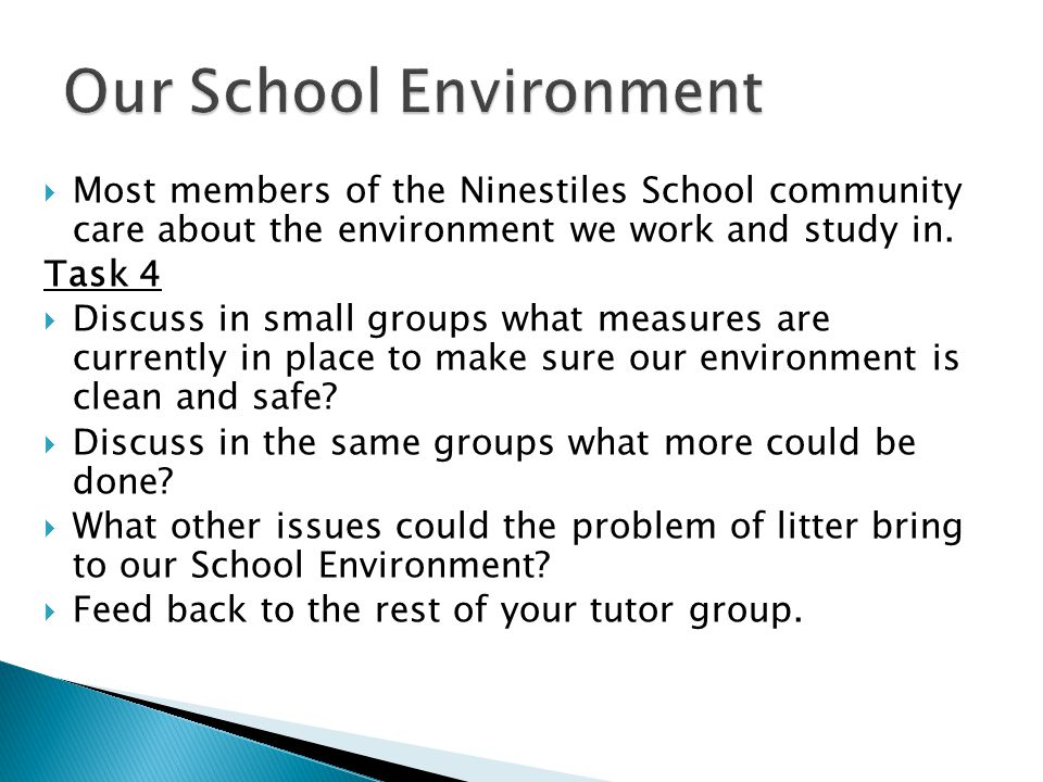  Most members of the Ninestiles School community care about the environment we work and study in.
