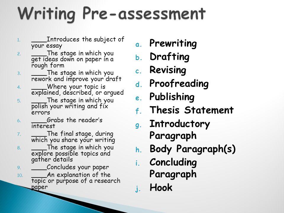  Writing Test Preparation  Your sermon.