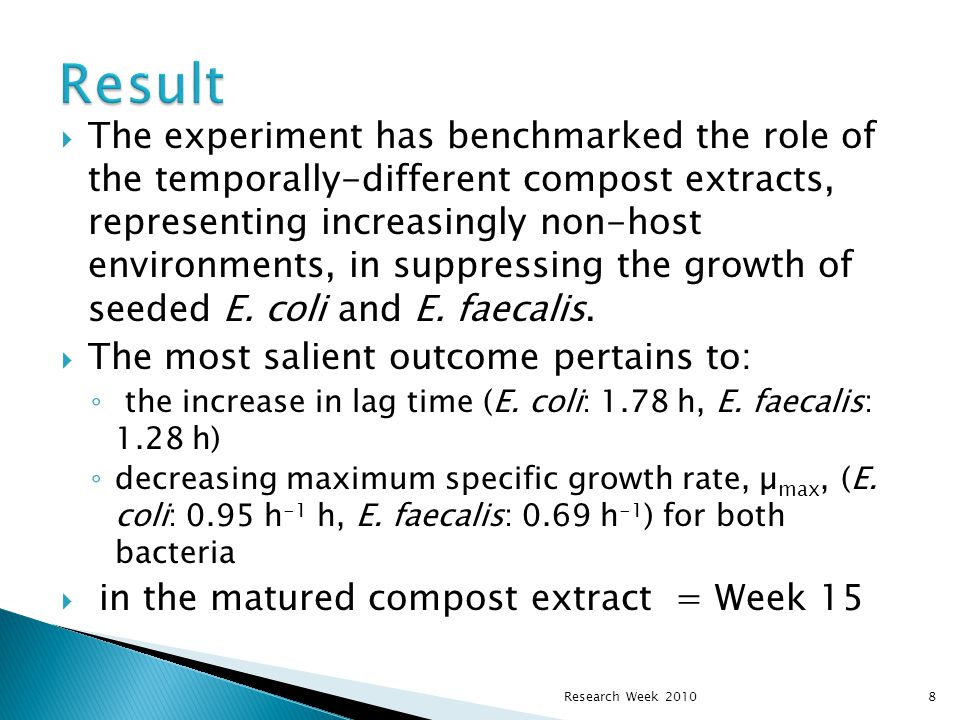  The experiment has benchmarked the role of the temporally-different compost extracts, representing increasingly non-host environments, in suppressin