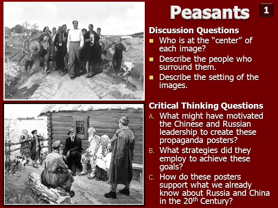 1 1 Discussion Questions Who is at the center of each image.