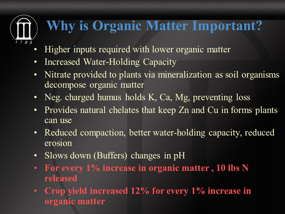 Why is Organic Matter Important.