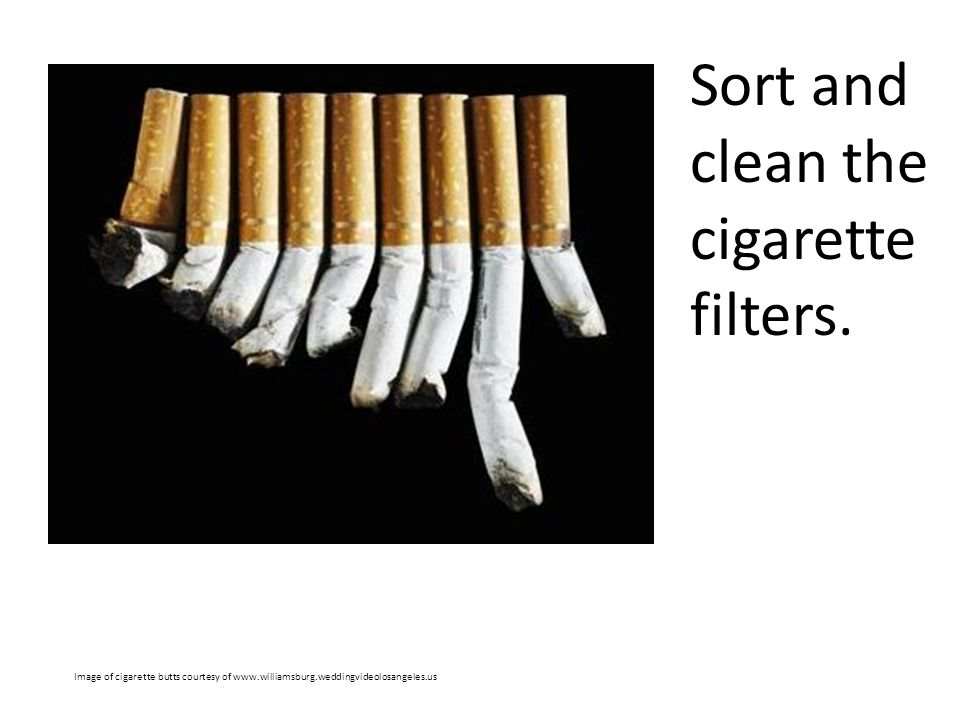 Sort and clean the cigarette filters.