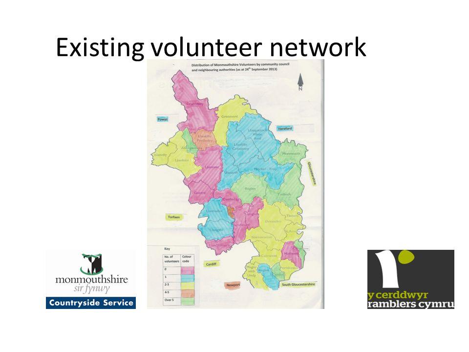 Existing volunteer network