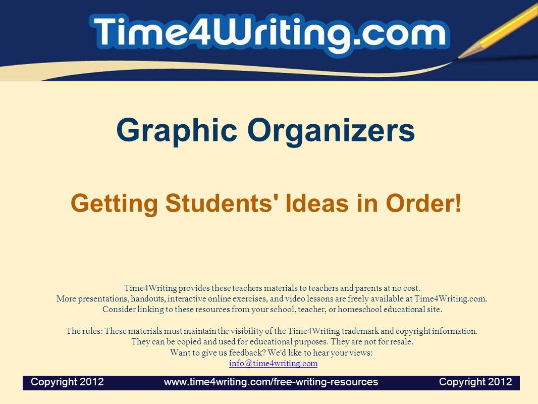 What is a Graphic Organizer.