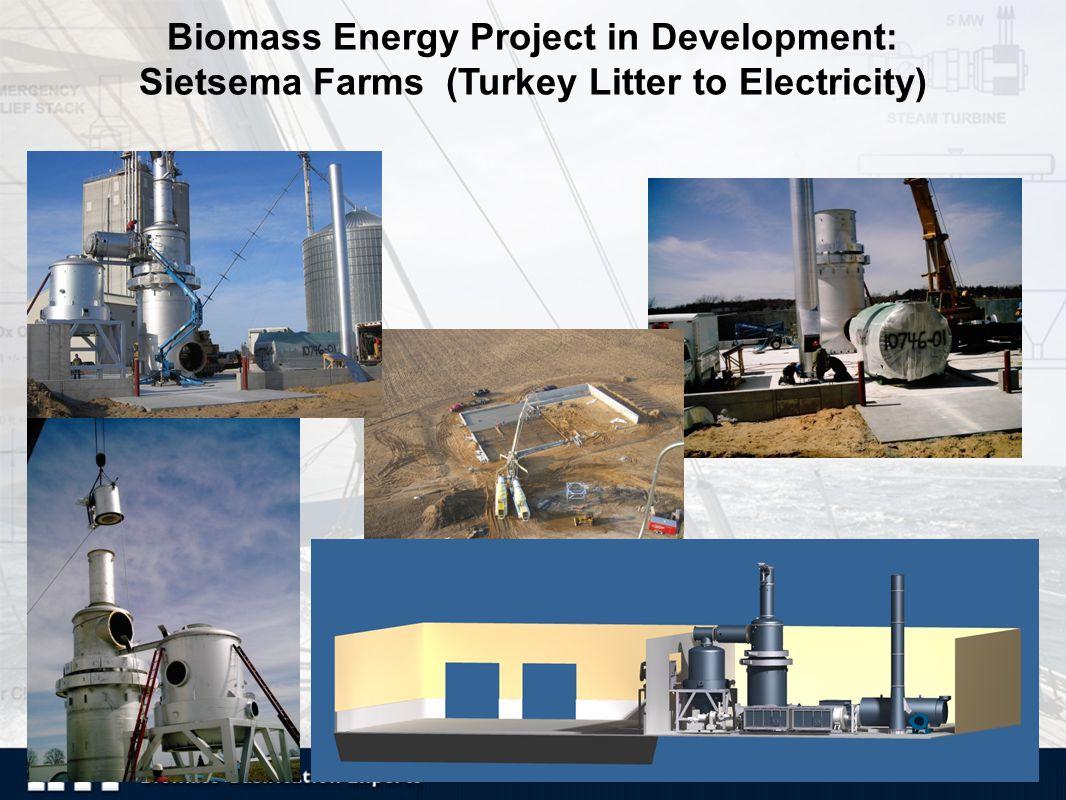 15 Biomass Energy Project in Development: Sietsema Farms (Turkey Litter to Electricity)